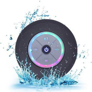 ENCEINTE NOMADE Ventouse Enceinte bluetooth waterproof noir