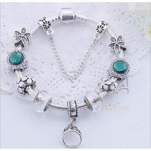 BRACELET - GOURMETTE 18CM Charms Bracelet  bijoux Femme Trèfle Charms F