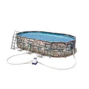 PISCINE BESTWAY Piscine ovale Steel Frame Pool - 610 x 366