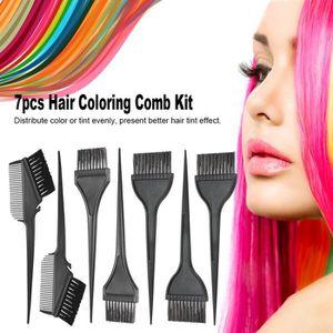 POCHOIR COLORATION POIL 7pcs Kit de Peigne Teinture des cheveux pour peint
