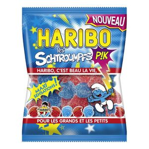 CONFISERIE DE SUCRE Schtroumpfs pik haribo- boite de 30 sachets de ...