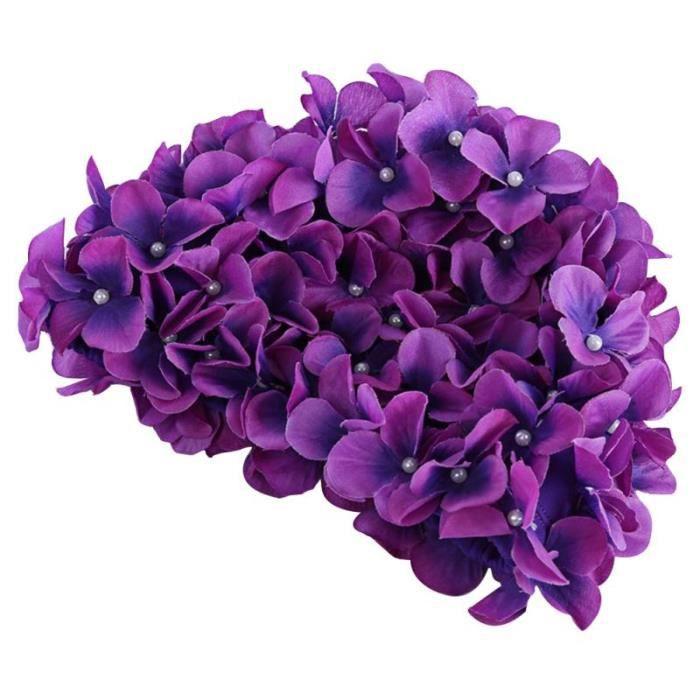 Bonnet de bain à fleurs 3D pour femmes, bonnet de bain pour cheveux longs [5DDA44B]