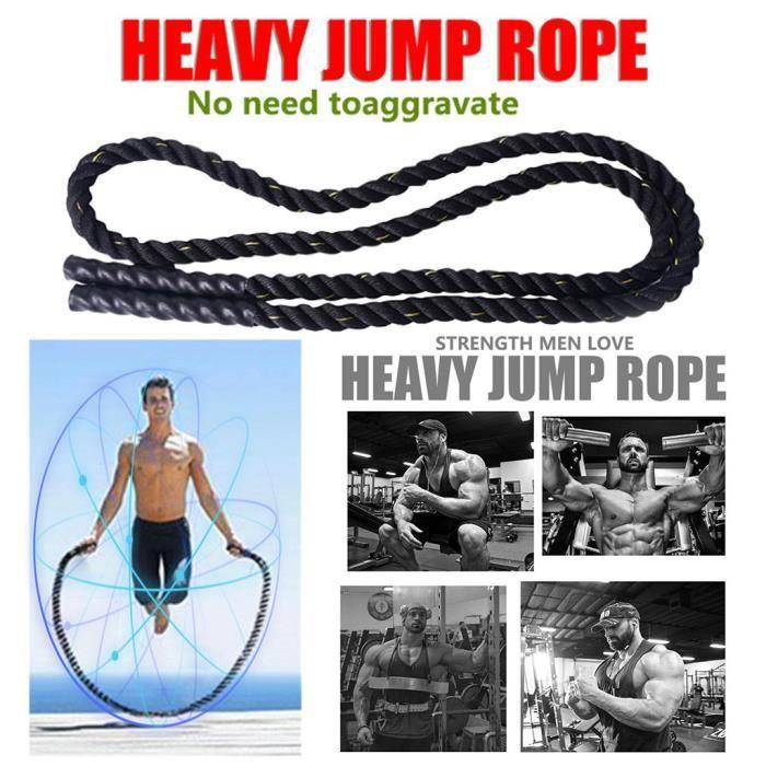 Cordes à sauter lourdes de fitness de 25 mm pour hommes et femmes Équipement sportif 406