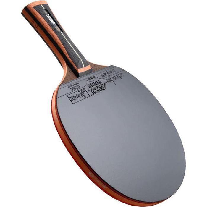 SGAIYUNRT Raquette de Ping Pong avec Protection de Bord e ande de Bois, Bois à 5 Couches et en Carbone à 2 Couches475