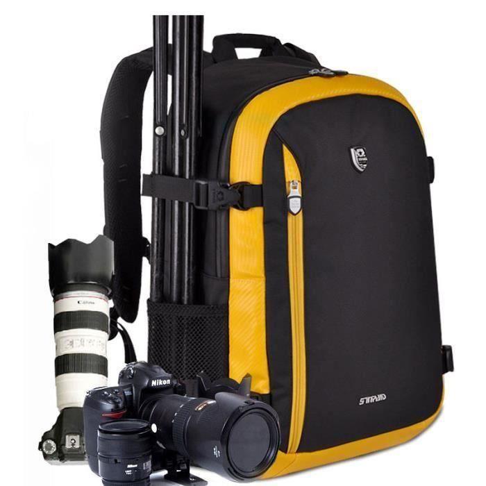 orange sac a dos appareil photo reflex imperméable pour canon pour nikon. sac de voyage. sac photo bandoulière reflex la38138