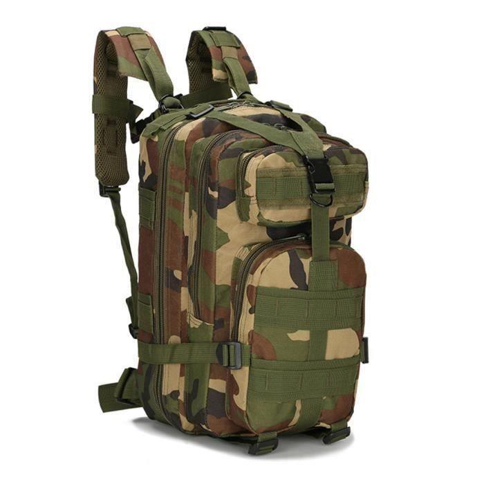 Sac à dos 1000D 30L Sport Extérieur Tactique Militaire épaule Armée Randonnée Camouflage Jungle Wir71