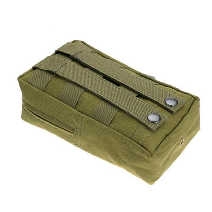 Mini Pochette tactique imperméable Nylon léger Sac de rangement de téléphone militaire léger Gilet Accessoire Vert 1PC