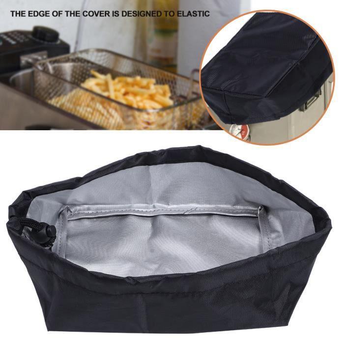 20x15x8cm 420D Oxford tissu friteuse housse anti-poussière machine à frire housse protection extérieure (noir)