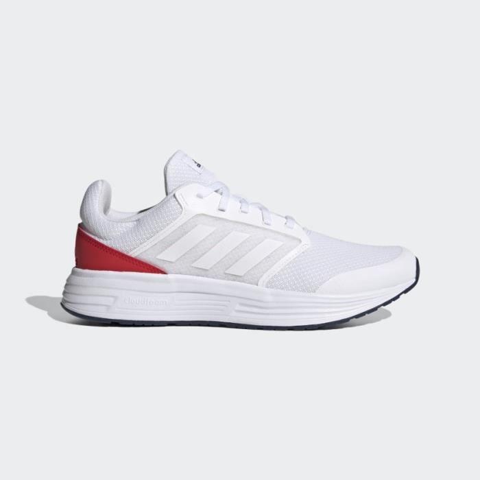 ADIDAS Baskets de Running GALAXY 5 Homme Blanc et Rouge