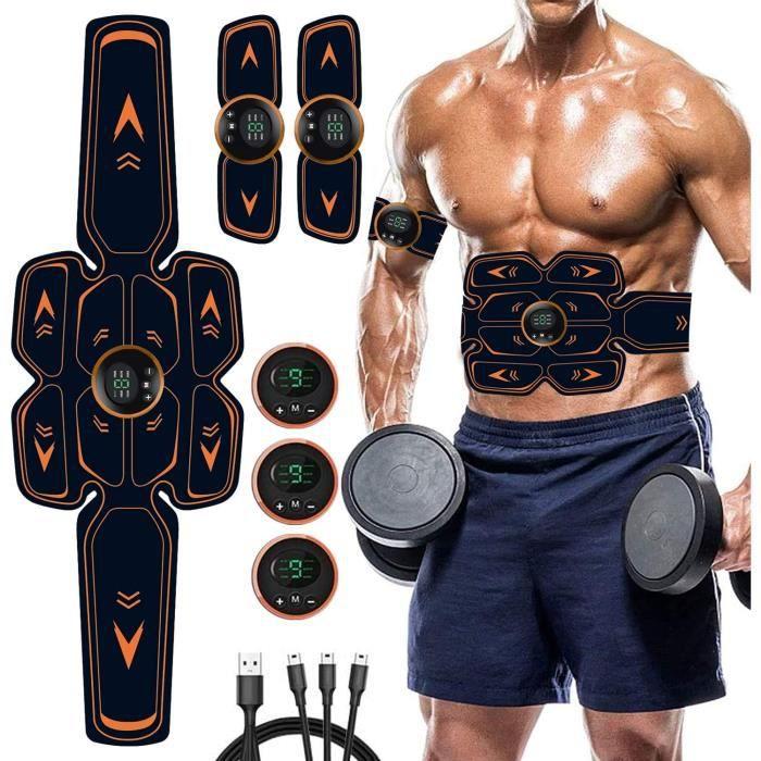 Electrostimulateur Musculaire Homme Femme,iFanze Ceinture Abdominale Electrostimulation EMS Stimulateur Musculaire pour Abdomen/Bras