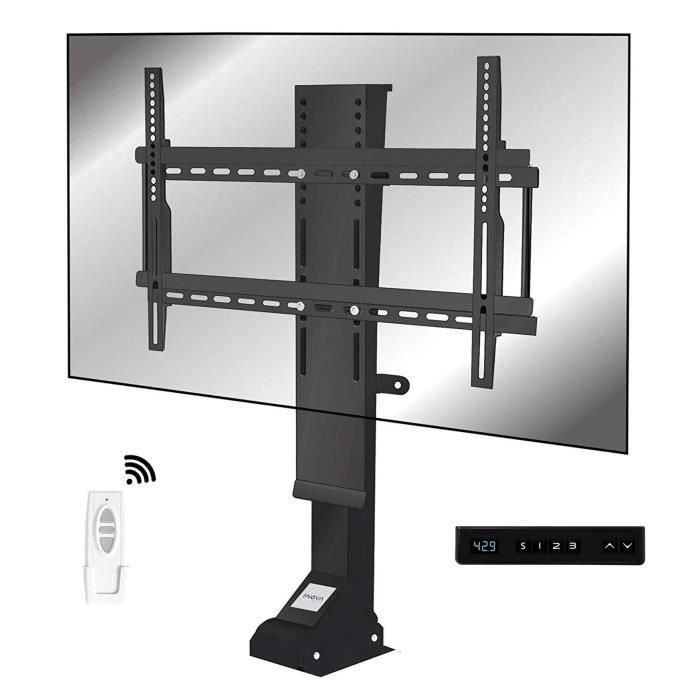 I-NOVA Support TV motorisé Ascenseur pour téléviseur 32--70- TV Lift 82mm X8S 3 mémoires de Position, Ultra Silencieux, Clavier Inte