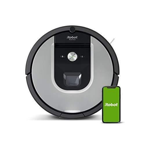 irobot Aspirateur Robot Roomba 971, connecté WiFi avec forte puissance d aspiration - 2 brosses anti-emmêlement en caoutchouc -