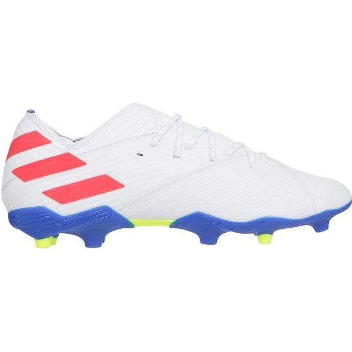 ADIDAS PERFORMANCE Chaussures de Football Nemeziz Messi 19.1 FG J - Enfant - Blanc/Rouge/Bleu