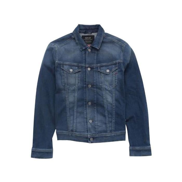 Veste en jean délavé Brut used - S - Brut Used