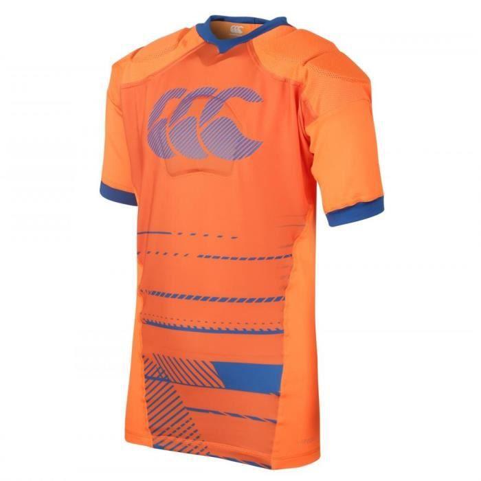 Maillot de sport Canterbury modele vapordri raze avec epauliere rugby garçon - Orange