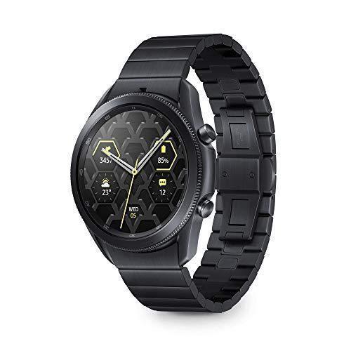 Samsung Montre Connectée Sport Galaxy Watch3 Bluetooth, boîtier 45 mm et Bracelet en Titane, capteur de Chute, Surveillance de 40