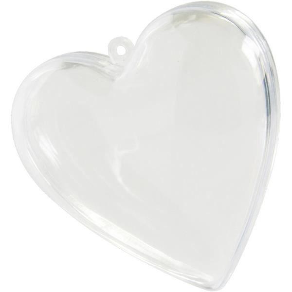 10 Contenants coeurs PVC : Transparent - REF/2970