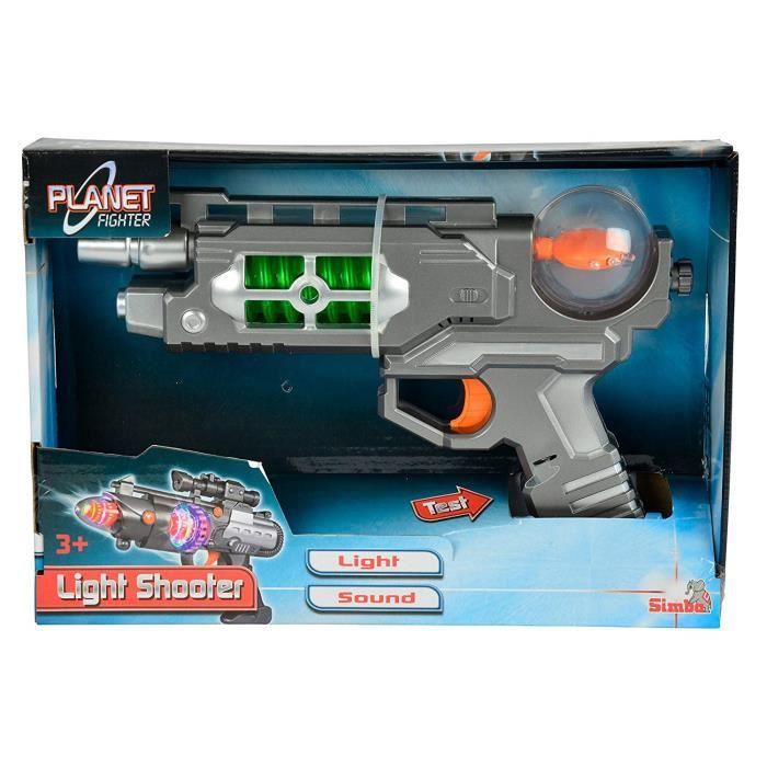 SIMBA 8046571 - COMMUTATEUR KVM - Toys 10 ? Planet Fighter Light Shooter Pistolet, Assortiment de 3 Motifs