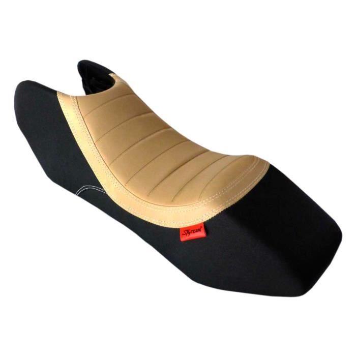 Selle bicolore - Noir/Marron - Moto PBR SKYTEAM