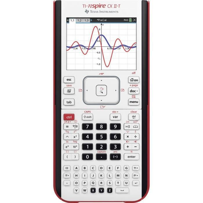 Calculatrice graphique Texas Instruments TI-NSpire™ CX II-T TI-NSpire CX II-T noir à batterie (l x h x p) 100 x 23 x 200