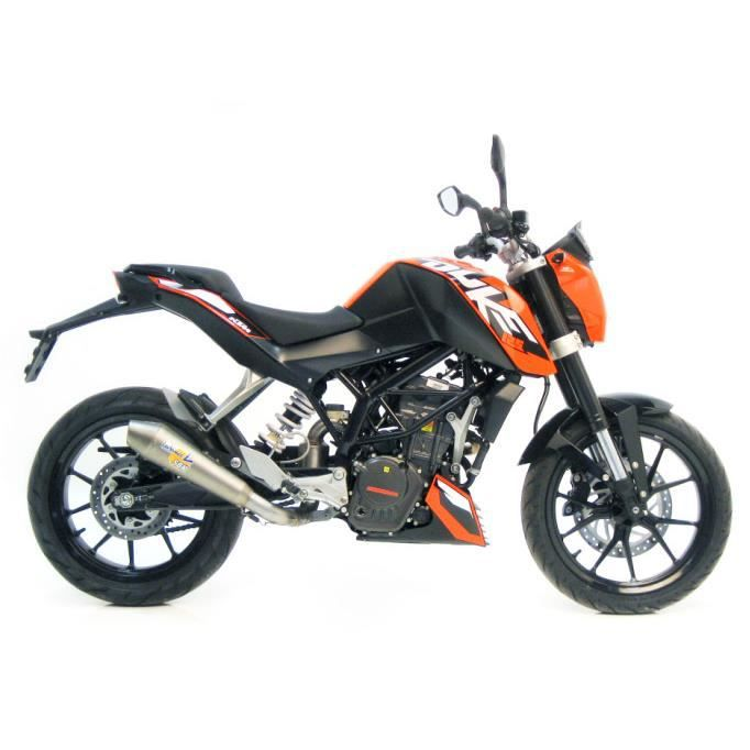 silencieux gpstyle homologu evo ii position d 39 origine acier inox ktm duke 125 2011 2012 ktm. Black Bedroom Furniture Sets. Home Design Ideas