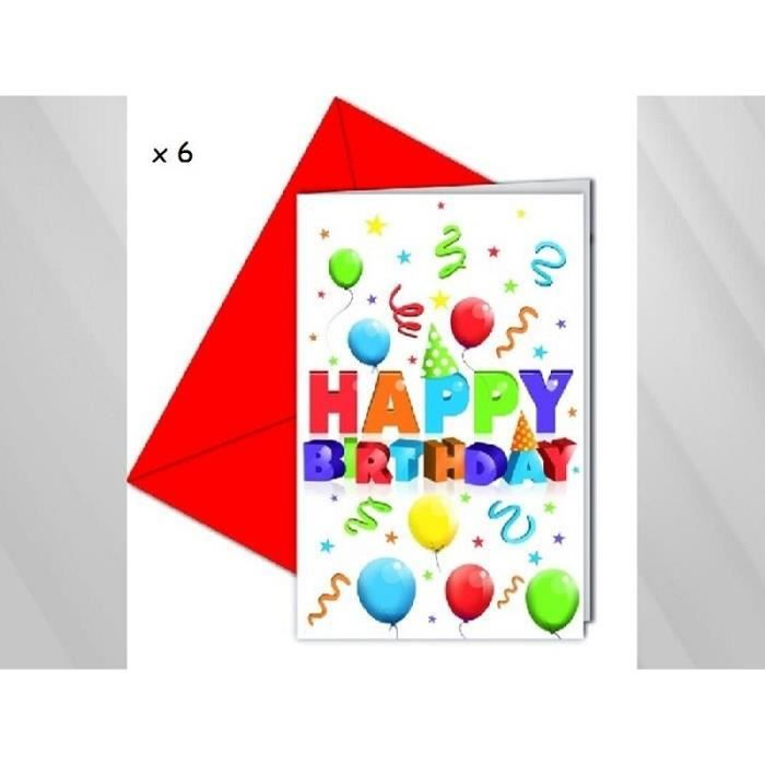 FAIRE-PART - INVITATION ANNIVERSAIRE Invitations & Enveloppes HAPPY BIRTHD