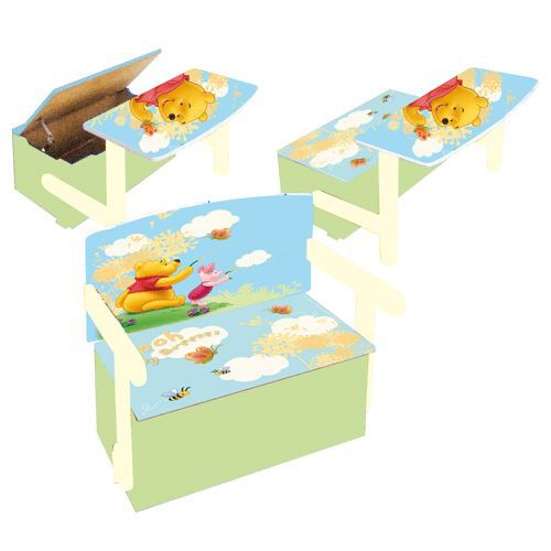coffre jouets 3 en 1 winnie l 39 ourson achat vente coffre jouets coffre jouets cdiscount. Black Bedroom Furniture Sets. Home Design Ideas