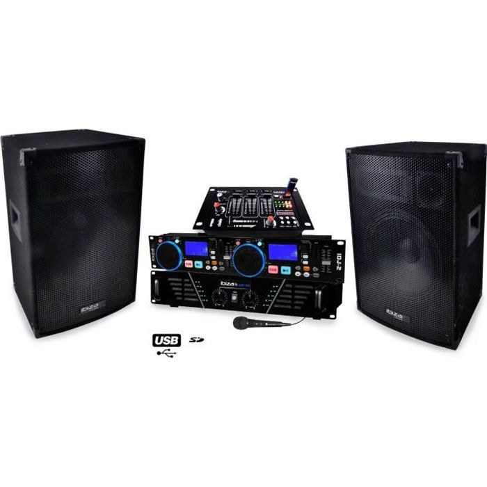 pack sono dj 550 amplificateur 2 x 240w hp pack sono. Black Bedroom Furniture Sets. Home Design Ideas
