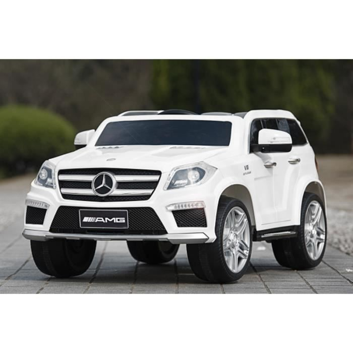 voiture lectrique pour enfant 4x4 mercedes benz gl63 blanc achat vente voiture enfant. Black Bedroom Furniture Sets. Home Design Ideas