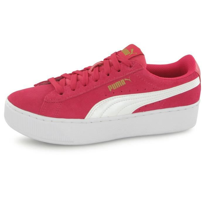 Puma Vikky Platform rose, baskets mode enfant