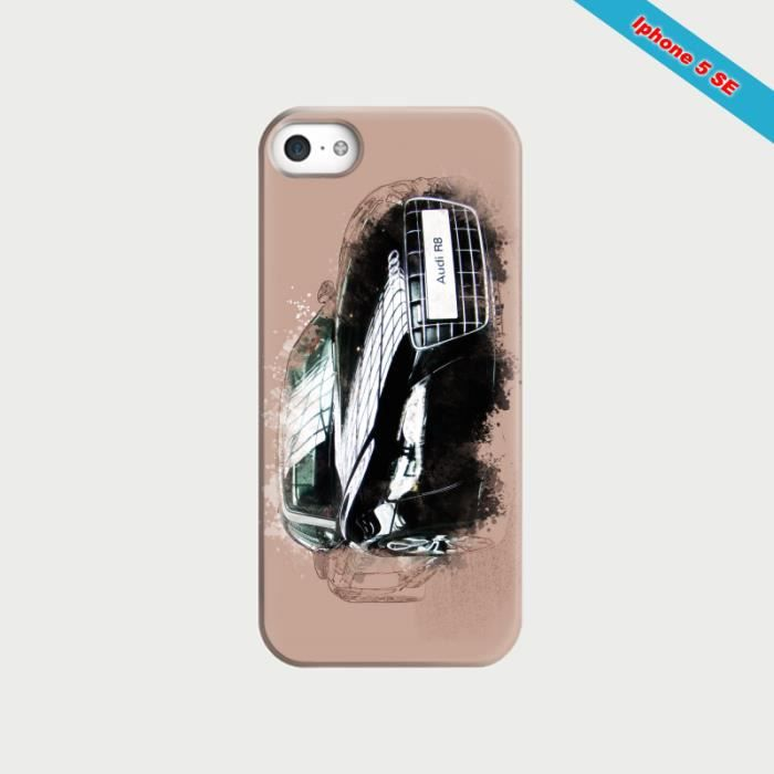 coque iphone 5se fan d 39 audi a8 dessin achat coque. Black Bedroom Furniture Sets. Home Design Ideas