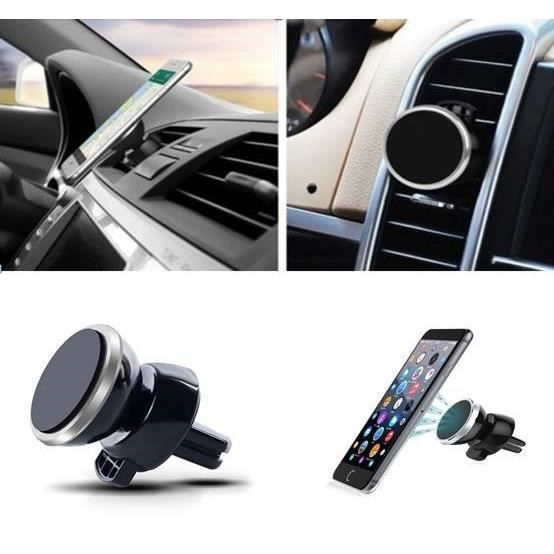 support voiture magn tique pour zte axon 7 aimant noir ventilateur universel 360 rotatif achat. Black Bedroom Furniture Sets. Home Design Ideas