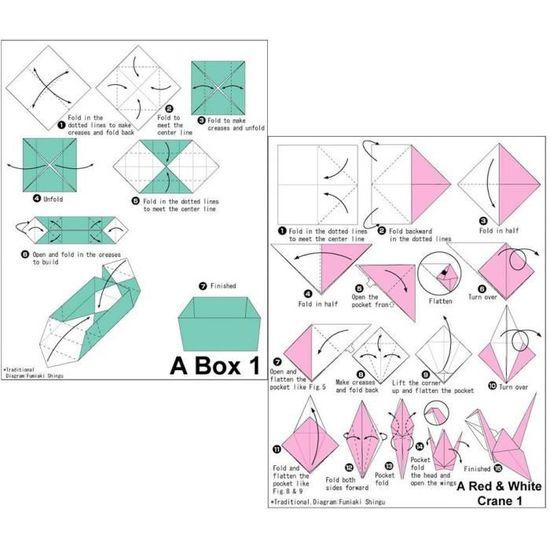 Longyisound Lot de 150 feuilles de papier origami double face en 10 couleurs vives pour travaux manuels et travaux manuels