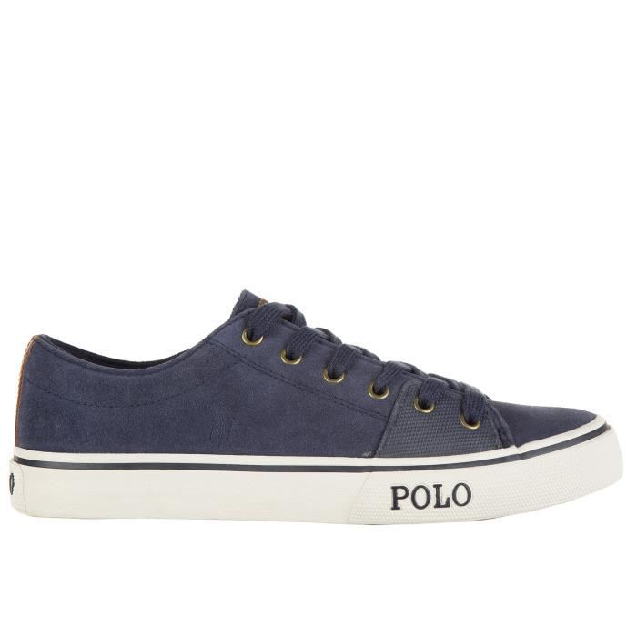 Chaussures baskets sneakers homme en daim cantor low Polo Ralph Lauren