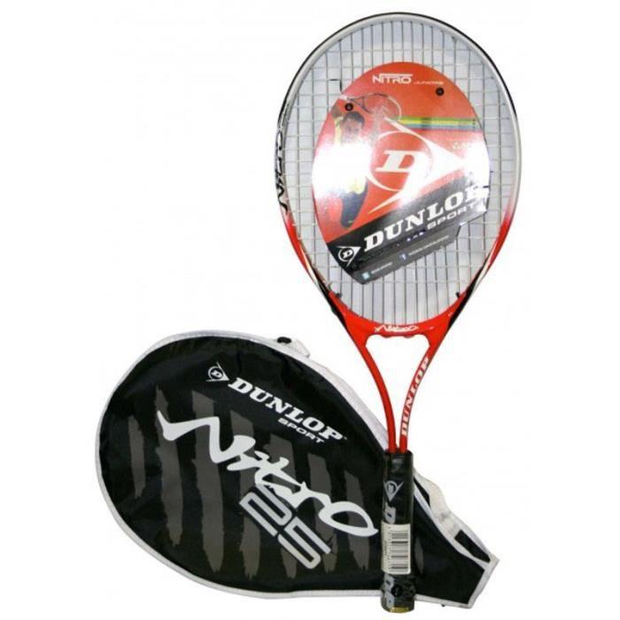 DUNLOP Raquette de tennis D Tr Nitro 25 - Junior - Rouge et noir