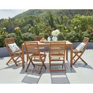 SALON DE JARDIN  Ensemble repas de jardin - table rectangulaire 160