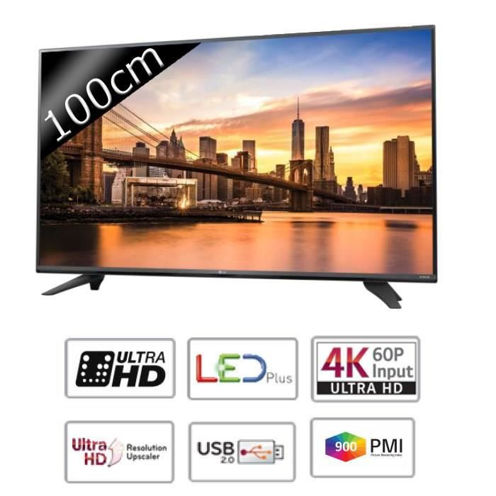 lg 40uf671v tv led ultra hd 4k 100cm 40 t l viseur led avis et prix pas cher cdiscount. Black Bedroom Furniture Sets. Home Design Ideas
