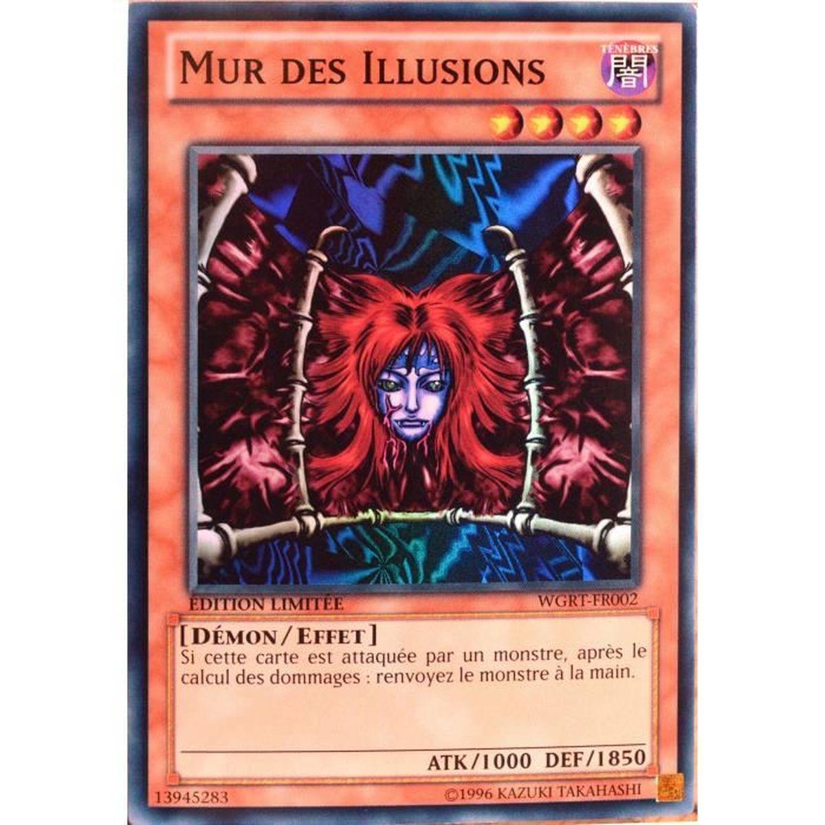 vente carte yu gi oh Carte YU GI OH WGRT FR002 Mur Des Illusions   Achat / Vente carte