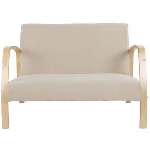 FAUTEUIL LIUX Fauteuil en bois Canapé 2 places, chaise de r