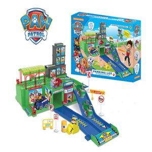 pat patrouille paw patrol parking piste jouets pour enfants jouer mod les maison d 39 explosion. Black Bedroom Furniture Sets. Home Design Ideas