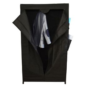 PENDERIE SOUPLE Penderie Nomade First - Tissu noir - H 156 cm