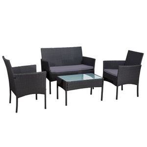 Ensemble table et chaise de jardin Exp via Cdiscount - CORDOUE Salon de jardin en rés