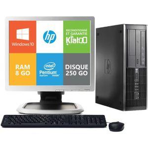 UNITÉ CENTRALE + ÉCRAN ordinateur de bureau hp 6000 intel dual core 8go r