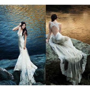 ROBE DE MARIÉE Robe de mariée sirène de soirée longue traîne blan