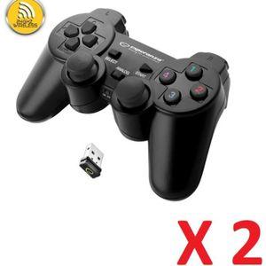 MANETTE JEUX VIDÉO 2 X Manette sans fil pour Sony Playstation 3 PS3 e