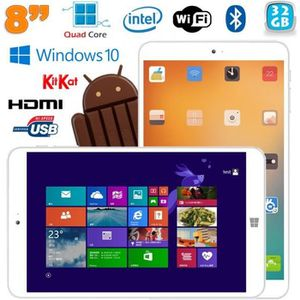 TABLETTE TACTILE Tablette Windows 10 tactile 8 pouces Intel Quad Co