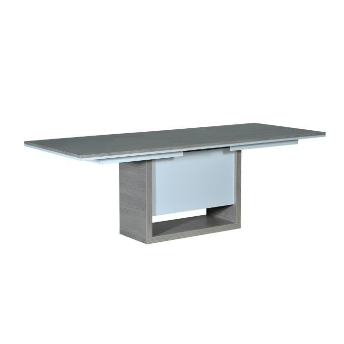 Sestra table manger extensible avec pied lumineux 4 6 for Table 4 personnes extensible