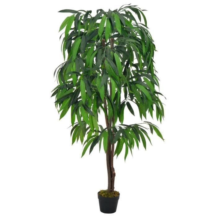 INGSHOP© Plante artificielle Type de Manguier avec pot Vert 140 cm