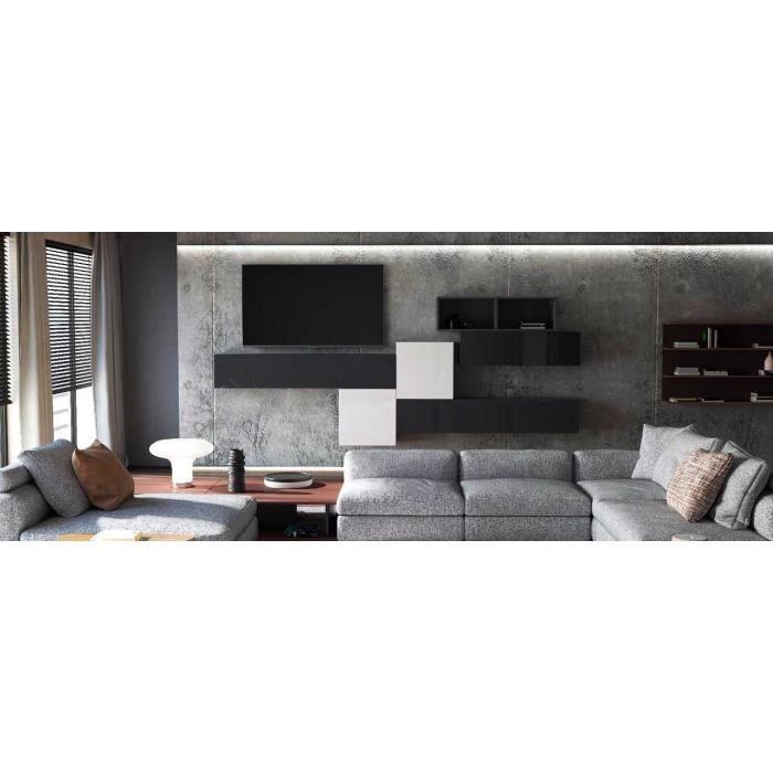 Ensemble de meubles suspendus bicolores
