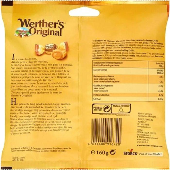 WERTHER'S ORIGINAL Cœur tendre au caramel - 160 g